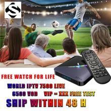 Arabic IPTV Box lifetime free forever 4G+64G with 8000+L 6000+V Adult TV Africa/Somali/Swedish Android 9.0 Arabic IPTV Box somali piracy