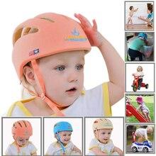 Baby Helmet Safety Hat Infant Head Protection Kids Walk Anti-Collision Cotton Mesh Soft Adjustable Children Toddler Cap Boy Girl