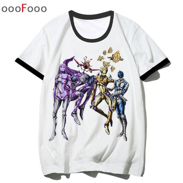 JoJo Bizarre Adventure T Shirt T-shirt Fashion Cool Novelty Anime Funny streetwear Men Printed top tee man/male tshirt hip hop 5