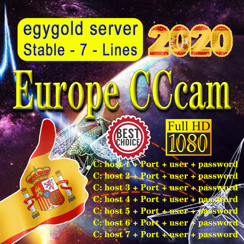 Europe's newest and most stable egygold Cccam 7-wire WIFI full HD egygold server supports Spain Italy satellite TV receiver image