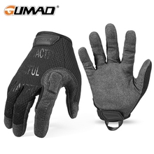 Tactical Gloves Army Long Full Finger Glove Men Black Military Airsoft Outdoor Sport Hiking Biking Cycling Lightweight Soft New cheap GUMAO Microfiber Long full finger gloves Mittens Unisex Men Women Male Female S M L XL Wrist CP Green Black Solid Anti-skip