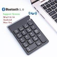 لوحة المفاتيح الرقمية بلوتوث جديد المحمولة عدد صغير لوحة المفاتيح USB عدد لوحة 18 مفاتيح لمكتب المحاسبة الصراف الكمبيوتر المحمول WIN10