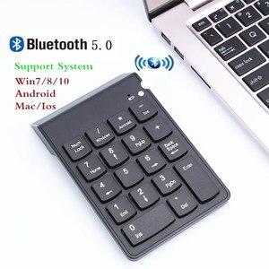 Image 1 - דיגיטלי מקלדת Bluetooth חדש נייד מיני מספר מקלדת נומרית USB 18 מפתחות עבור משרד חשבונאות מגדת מחשב נייד מחשב WIN10