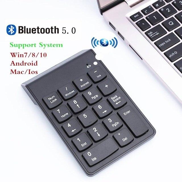 דיגיטלי מקלדת Bluetooth חדש נייד מיני מספר מקלדת נומרית USB 18 מפתחות עבור משרד חשבונאות מגדת מחשב נייד מחשב WIN10