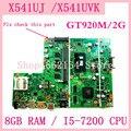 X541UJ carte mère 8GB RAM/I5-7200U/AS GT920M/V2G carte mère pour Asus X541UVK X541UJ X541UV ordinateur portable carte mère 100% testé OK