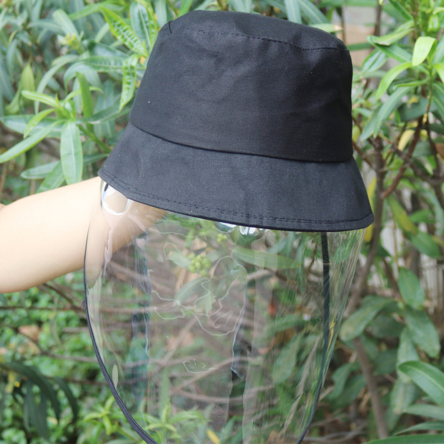 Windproof Sun Hat Face Shield Cover Hat Anti Spitting Saliva Dust proof Fisherman Cap With Detachable Clear Facial Mask 2