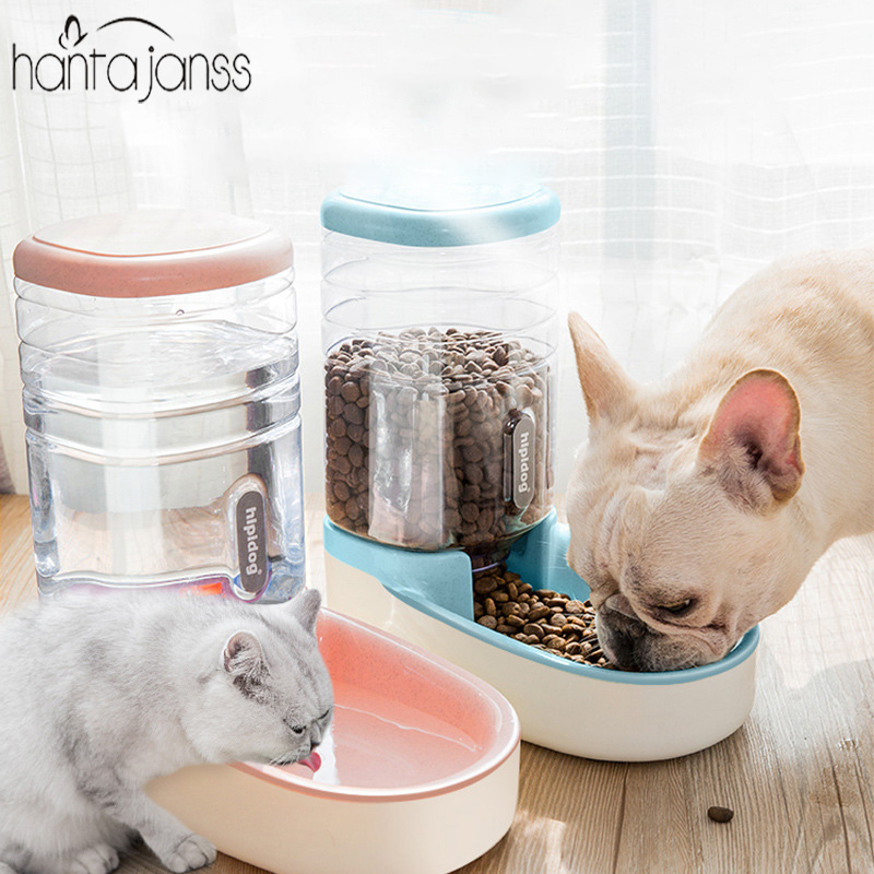 Pet Dog Automatic Drinking Fountain 3.8L Storage Grain Barrel Cat Water Dispenser Dog Bowl Supplies Automatic Feeder image