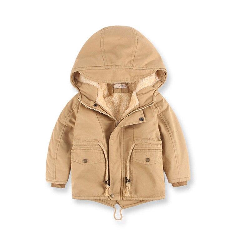 Benemaker Children Winter Outdoor Fleece Jackets For Boys Clothing Hooded Warm Outerwear Windbreaker Baby Kids Thin Coats YJ023 7