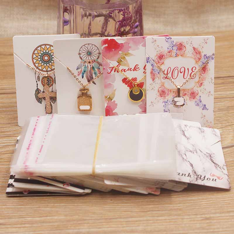 Earring-Cards Cardboard Jewelry-Display 25opp-Bags Fashion-Design 50pcs Hot Paper Card-5x7cm