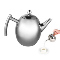 1000/1500ML Stainless Steel Teapot Large Capacity Water Kettle Coffee Pot With Filter for Milk Oolong Tea Flower Dropshipping