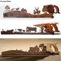 Ретро ручная пила на День отца настенное крепление Лось буйвол трактор подвеска железная Искусство ретро креативный подарок украшение для ...