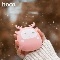 HOCO simpatico cartone animato inverno Mini scaldamani riscaldamento portatile USB ricaricabile pratico scaldino 4000mAh Power Bank a doppia faccia rapido