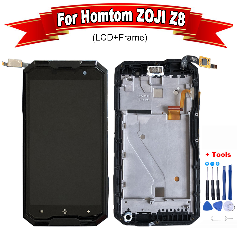 """5.0""""For HOMTOM ZOJI Z8 LCD Display+Touch Screen + Frame 100% Tested Digitizer Glass Panel Replacement For ZOJI Z8 +Free tools(China)"""
