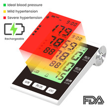 BP Sphygmomanometer Rechargeable Blood Pressure Monitor Automatic Pressure Meter Tonometer for Measuring Arterial Pressure
