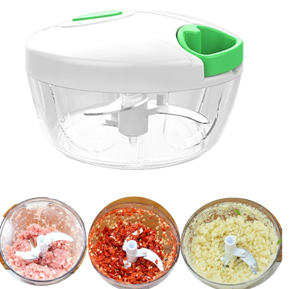 Nuts-Onions Blender Mixer Chopper Hand-Pull-Mincer Food-Processor Manual Vegetable Fruits