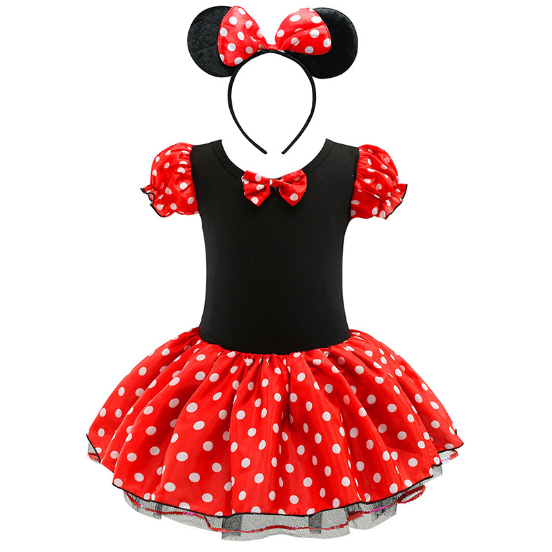 Baby <font><b>Girls</b></font> Minnie Mickey <font><b>Princess</b></font> <font><b>Dress</b></font> Kids Christmas Cartoon Mouse Clothes Headband Children Carnival Birthday Party Costumes image