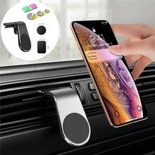 Supporto magnetico per telefono cellulare per auto pulsante per porta del condizionatore daria per auto supporto magnetico per telefono cellulare con navigazione SMD a forma di L