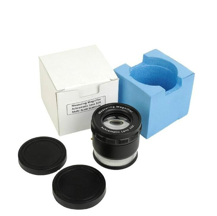 Repair Magnifier 8X Magnifying Glass Loupe Illuminate with LED Light Scale 0.1mm
