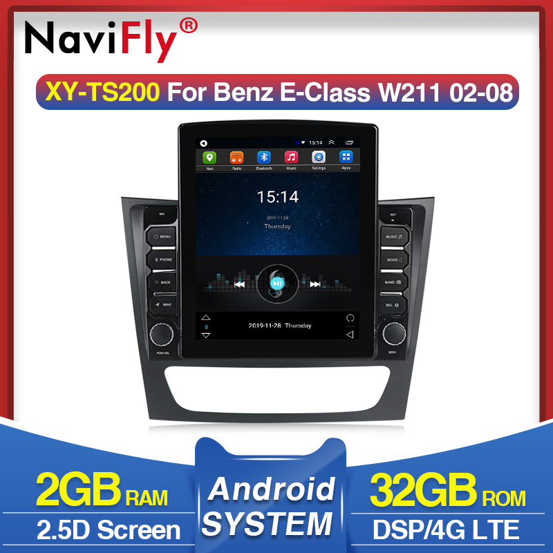 9.7 polegada tesla tela android rádio multimídia do carro estéreo para mercedes benz e-class w211 e200 cls classe w219 e220 e300 e350 e240