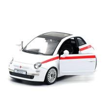 Diecasts & Toy Veículos de alta Simulação Requintado: RMZ cidade Estilo Do Carro FIAT 500 1:36 Alloy Diecast Modelo de Carro Puxar Para Trás Carros