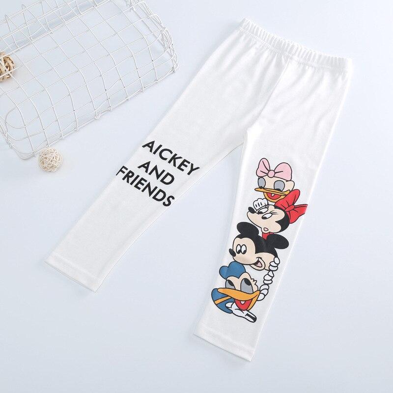 Fashion Cotton mickey Girls Pants Cartoon minnie Girl Leggings Baby Pants Kids Trousers Children Legging Girl Clothing 4 colors 6