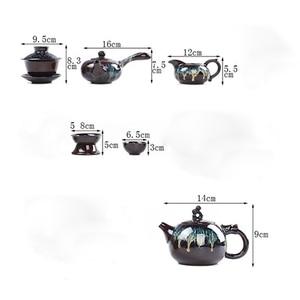 Image 5 - Chinese Kung Fu Tea Set Ceramic Glaze Teapot Teacup Gaiwan Porcelain Teaset Kettles Teaware Sets Drinkware Chinese Tea Ceremony