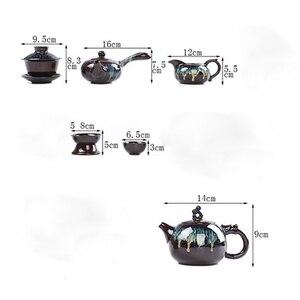 Image 5 - Çin Kung Fu çay seti seramik sır çaydanlık çay fincanı Gaiwan porselen Teaset ısıtıcılar Teaware setleri Drinkware çin çay töreni