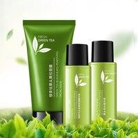 Green Tee Blackhead Remover Peel Mask Skin Care Set Dead Skin Peel Off Mask Oil Control Purifying Clean Pores Shrink Serum Set
