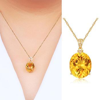Citrine naturelle breloque bijoux cristal or couleur cha ne pierres pr cieuses pendentif collier bijoux de