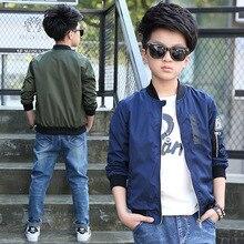 Boys Bomber Jackets 2020 Spring Autumn Kids Green Outerwear