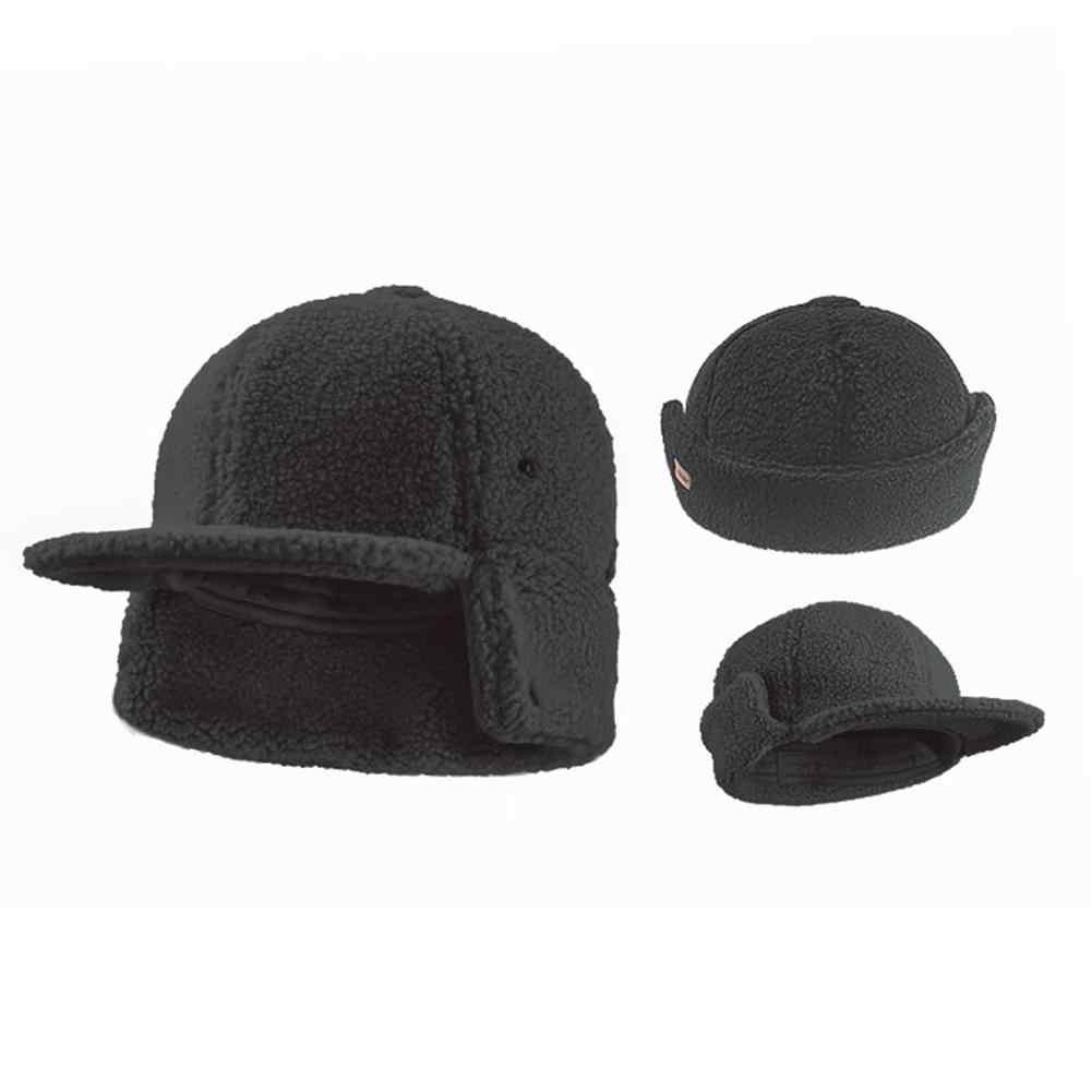 Men's Baseball Cap Winter Warm Earflap Dad Hats Wool Faux Fur Russia Hats Casquette Gorro Fitted Earmuff Protection