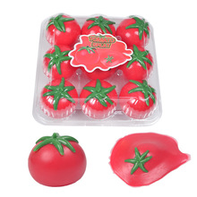 9шт моделирование помидор Вент мяч хитрые игрушки пониженном давлении водного поло тухлыми помидорами липкая жвачка