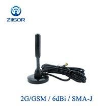 2G Antena GSM GPRS Antena miedziana z podstawa magnetyczna SMA męski moduł bezprzewodowy samochód Auto Antena wzmacniacz sygnału Z34 BGSMSJ30