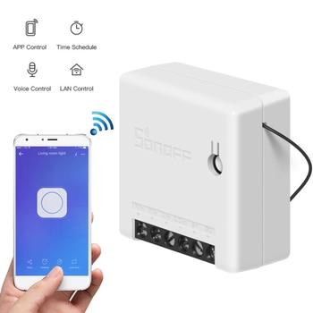 SONOFF-Interruptor inteligente MINI R2, dispositivo externo con Wifi, funciona con Alexa, Google Home y EWeLink 2