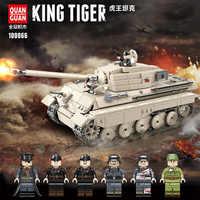 978 pièces WW2 militaire tigre roi réservoir blocs de construction Legoing militaire WW2 réservoir soldat arme armée briques enfants jouets pour enfants