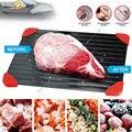 Поднос для быстрого размораживания замороженных продуктов мяса фруктов быстрая пластина из алюминиевого сплава кухонный прибор для размо...