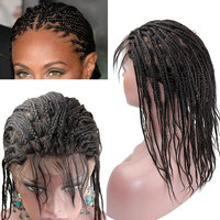 Braided Wigs 13x4 Lace Front human hair Braid wig with Baby Hair for Black Women Brazilian Remy Human Hair 130% 150% Density