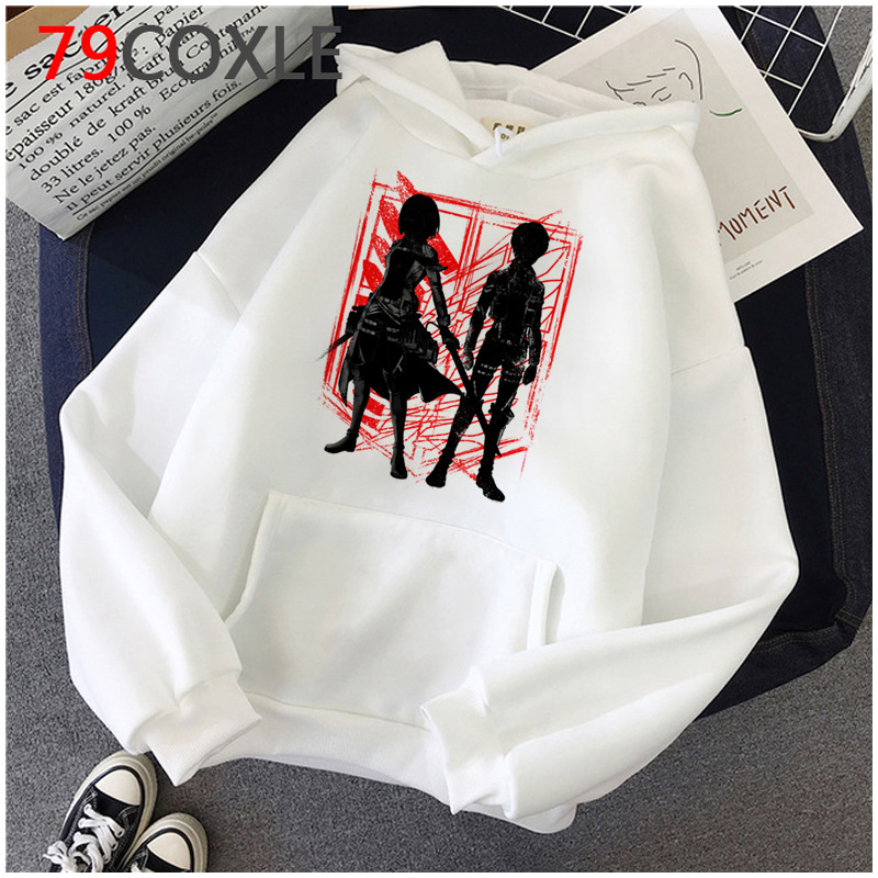 Hot Anime Attack on Titan Hoodies Men Kawaii Japanese Cartoon Harajuku Sweatshirts Hip Hop Ullzang Streetwear Graphic Hoody Male