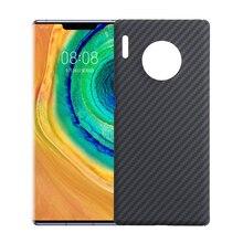 Kevlar funda de fibra de carbono para Huawei mate 30 pro, protector de fibra de carbono pura para teléfono móvil Huawei p30 pro