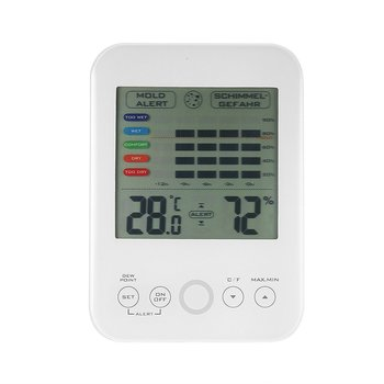 High Accuracy Digital  Indoor Electronic Temperature Humidity Hygrometer Weather Station thermometer with mold alarm LCD display free shipping temperature alarm indoor and outdoor large screen electronic hygrometer oversized word was high and low temperatur page 3