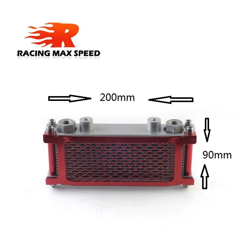 Enfriador de aceite pequeño Universal para motocicleta, enfriador de aceite para motocicleta con Red para ATV UTV dirtbike SO-04