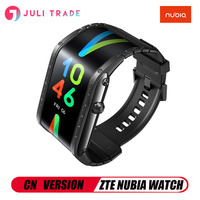 NEW Nubia Smart Watch Phone Flexible Android 4.01 inch OLED display 8GB ROM Snapd Bluetooth Calling Health testing Sport Music