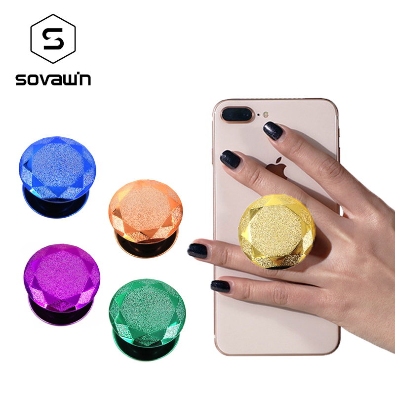 Sovawin Mobile Phone Holder Stand Finger Ring Air Bag Phone Stand Bracket 360 Rotating Mount For Iphone For Samsung For Huawei