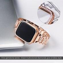 Браслет + чехол металлический ремешок для apple watch series
