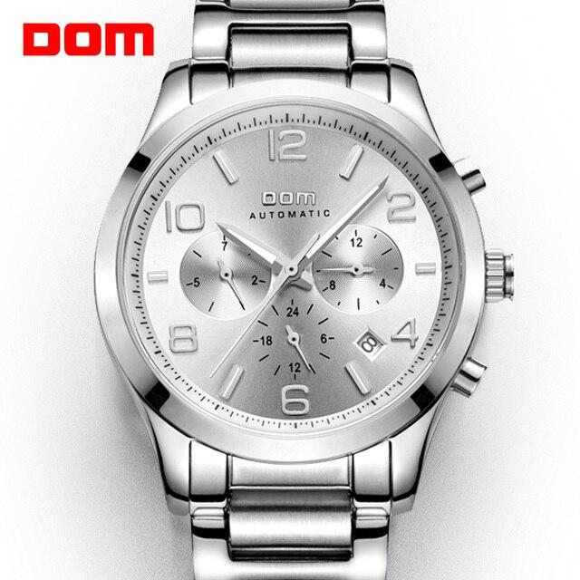 DOM メンズ腕時計トップブランドの高級防水機械式男ビジネスマンリロイ hombre マルカデ lujo 男性 M 812D 7M