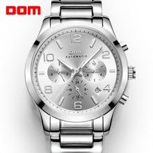 DOM mens שעונים למעלה מותג יוקרה עמיד למים מכאני איש איש עסקי reloj hombre marca דה lujo גברים שעון M 812D 7M
