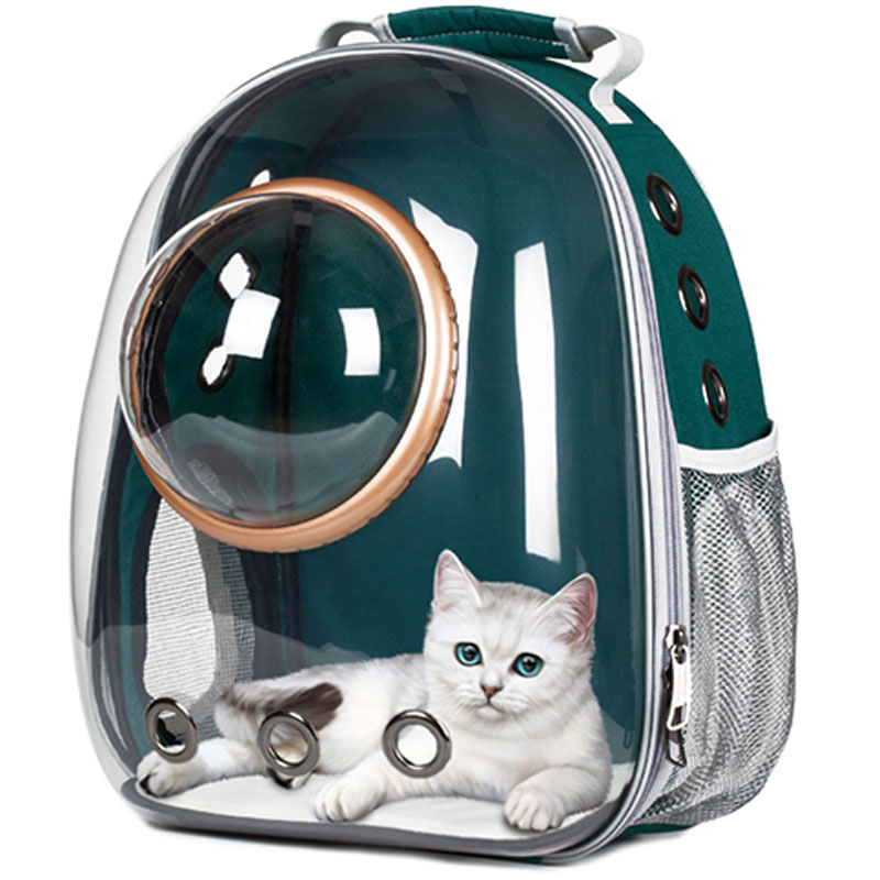 Transparent Pet Carrier Bag in Astronaut Pattern with Bubble Window for Carrying Dogs and Cats for Travel