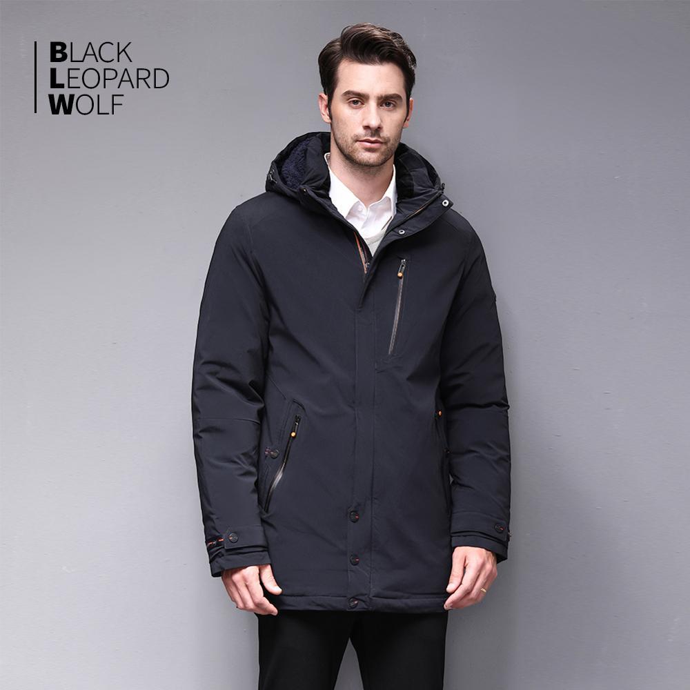 Image 2 - Blackleopardwolf 2019 chegada nova jaqueta de inverno casaco  masculino thik parka alaska outwear destacável outwear luxo à prova  vento BL 1002Parcas