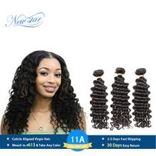 เปรูVirgin Hair Deep Wave 3 รวมกลุ่มหนาและหนามนุษย์ผมสานการรวมกลุ่มNew Starผลิตภัณฑ์