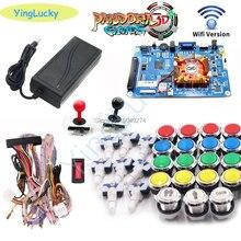 Pandora Box 3D 4018 kit WiFi DIY Arcade Kit 33mm LED buttons Copy SANWA Joystick Arcade